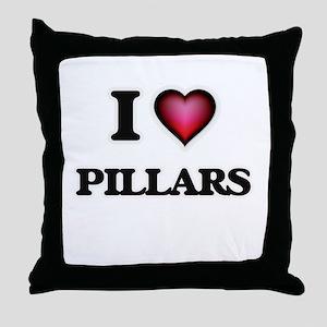 I Love Pillars Throw Pillow