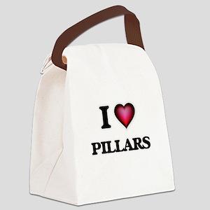 I Love Pillars Canvas Lunch Bag