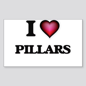 I Love Pillars Sticker