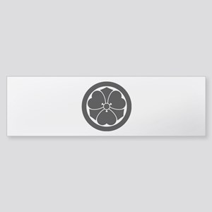 Wood sorrel with swords in circle Bumper Sticker