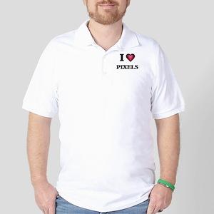 I Love Pixels Golf Shirt