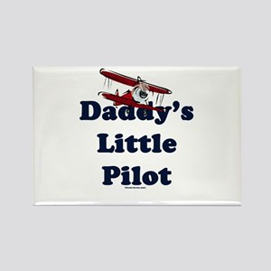 Daddy's Little Pilot Rectangle Magnet