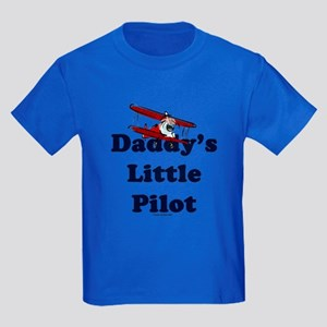 Daddy's Little Pilot Kids Dark T-Shirt