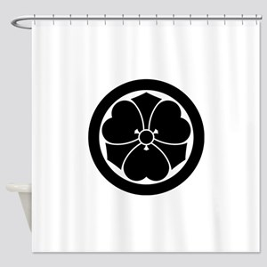 Wood sorrel with swords in circle Shower Curtain