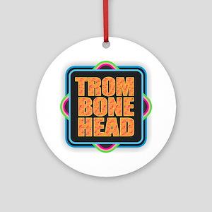 Trombonehead Round Ornament