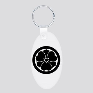Wood sorrel with swords in circle Keychains
