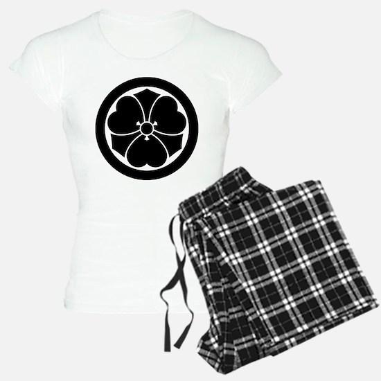 Wood sorrel with swords in circle Pajamas