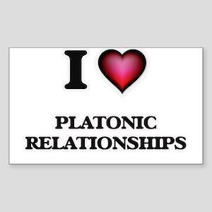 I Love Platonic Relationships Sticker