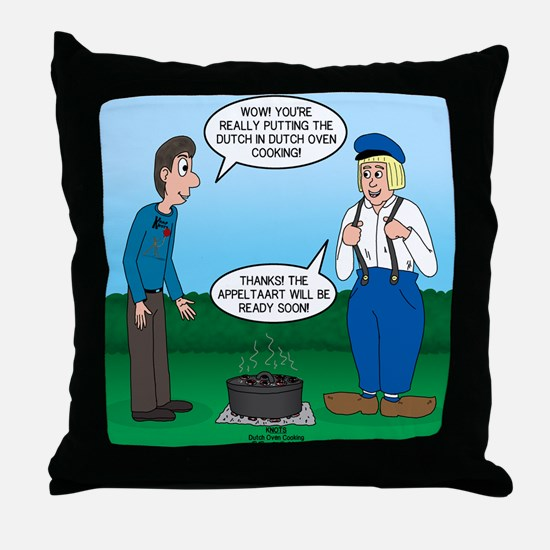 Dutch Oven Cooking Throw Pillow