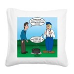 Dutch Oven Cooking Square Canvas Pillow