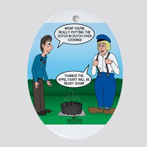 Dutch Oven Cooking Oval Ornament