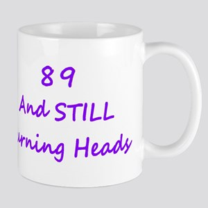 89 Still Turning Heads 2 Purple Mugs