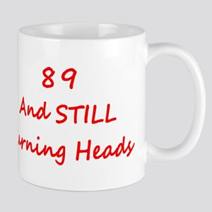 89 Still Turning Heads 2 Red Mugs