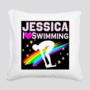 GREAT SWIMMER Square Canvas Pillow