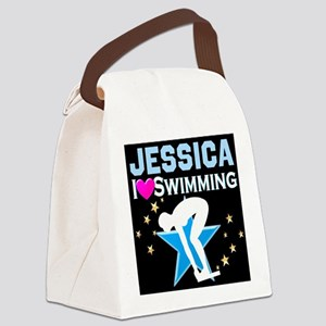 GREAT SWIMMER Canvas Lunch Bag