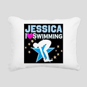 GREAT SWIMMER Rectangular Canvas Pillow