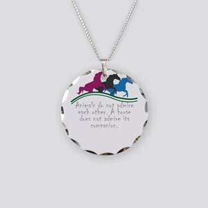Animals do not admire each o Necklace Circle Charm