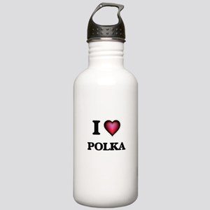 I Love Polka Stainless Water Bottle 1.0L