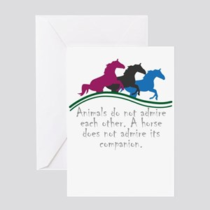 Animals do not admire each other. A Greeting Cards