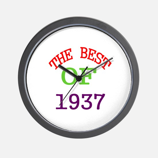 The Best Of 1937 Wall Clock