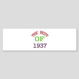 The Best Of 1937 Sticker (Bumper)