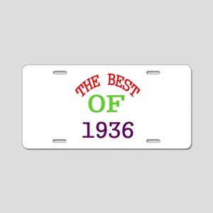 The Best Of 1936 Aluminum License Plate
