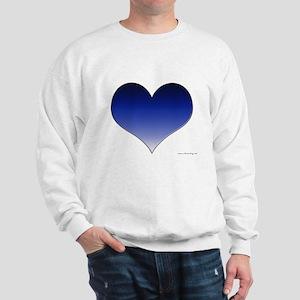 Blue Gradient Heart Sweatshirt