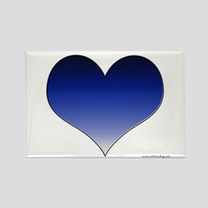 Blue Gradient Heart Rectangle Magnet