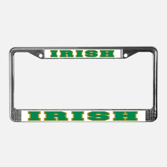 Irish (Green & Gold) License Plate Frame