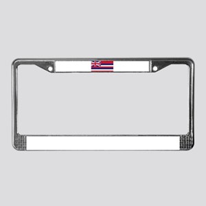 """Hawaii State Flag"" License Plate Frame"