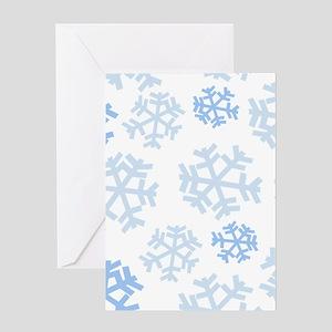 Snowflake Pattern Greeting Cards