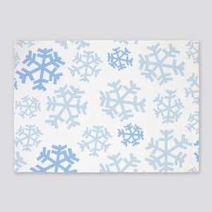 Snowflake Pattern 5'x7'Area Rug