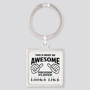This is what an awesome Percussion Square Keychain
