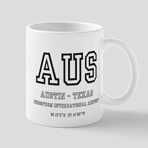 AIRPORT CODES - AUS - AUSTIN TEXAS Mugs