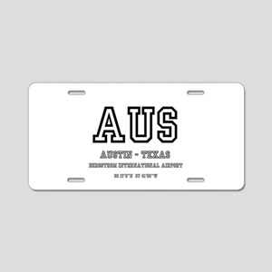 AIRPORT CODES - AUS - AUSTI Aluminum License Plate