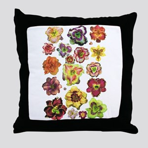 Assorted Daylilies Throw Pillow