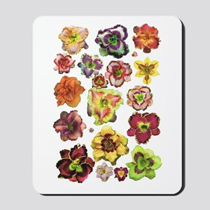 Assorted Daylilies Mousepad