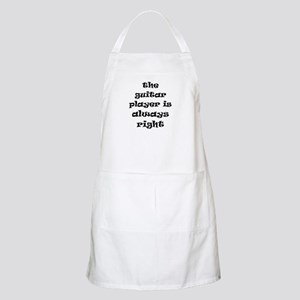 guitar always right Apron