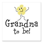 Customize New Baby Square Car Magnet 3