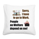 Sorry Square Canvas Pillow