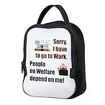 Sorry Neoprene Lunch Bag
