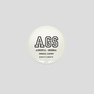 AIRPORT CODES - AGS - AUGUSTA, GEORGIA Mini Button