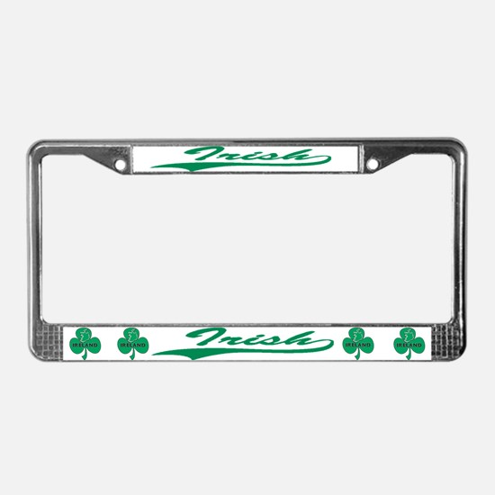 Irish (Script) License Plate Frame