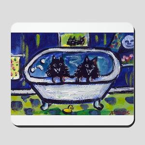 SCHIPPERKES in bath Mousepad