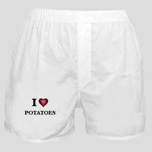 I Love Potatoes Boxer Shorts