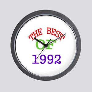 The Best Of 1992 Wall Clock