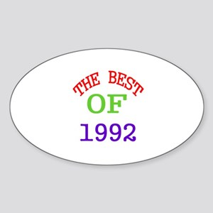 The Best Of 1992 Sticker (Oval)