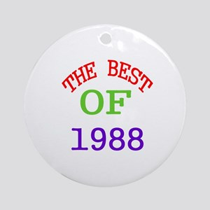 The Best Of 1988 Round Ornament