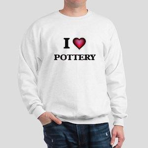 I Love Pottery Sweatshirt
