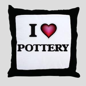 I Love Pottery Throw Pillow